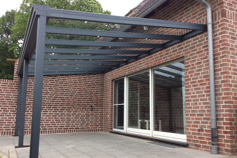 Terrassenüberdachung VSG klar