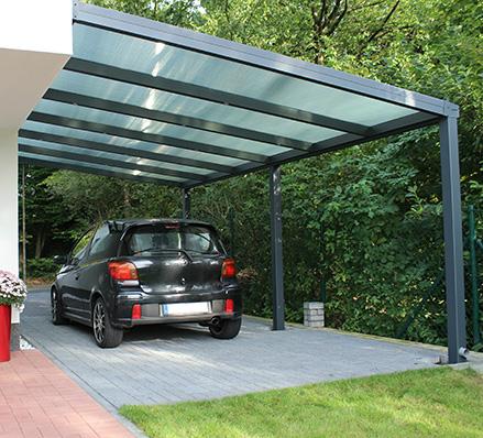 carport gr e f r zwei autos dach wka p aska czerwona. Black Bedroom Furniture Sets. Home Design Ideas