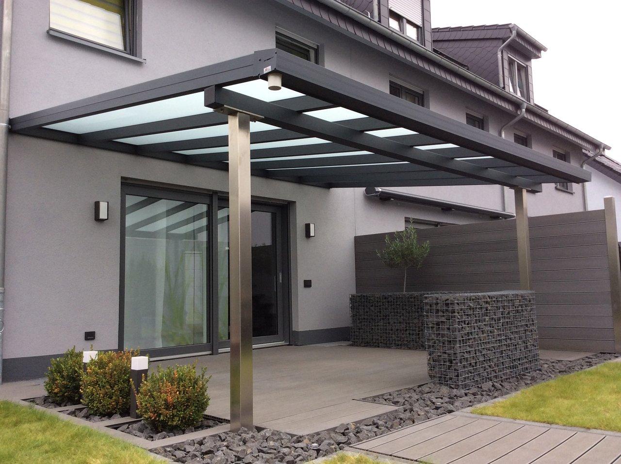 Terrassenüberdachung milchig