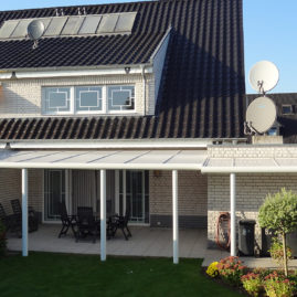Terrassenüberdachung Alu mit Polycarbonatplatten